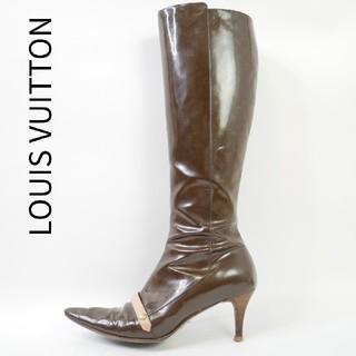ルイヴィトン(LOUIS VUITTON)のLOUIS VUITTON ルイヴィトン 36 エナメル ヴィトン柄ロングブーツ(ブーツ)