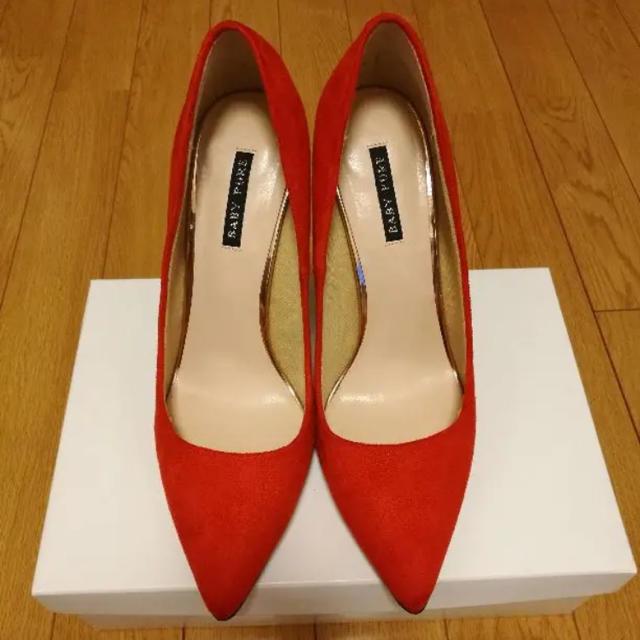 BABYPUREのスエードパンプス レディースの靴/シューズ(ハイヒール/パンプス)の商品写真