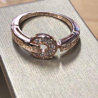 ブルガリ(BVLGARI)のBVLGARI パヴェ ダイヤモンド リング ピンクゴールド(リング(指輪))