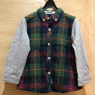 familiar - ファミリア  男の子 100 チェックシャツ