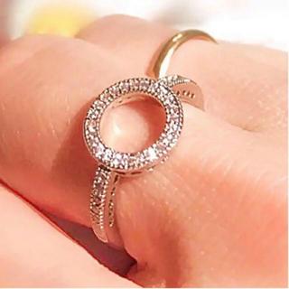 【11号:1点】   Circle ring ホワイトカラー水晶SV925リング(リング(指輪))