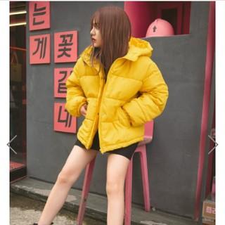 GRL - カラーフードエコダウンジャケット イエロー
