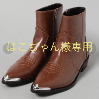 ジーナシス(JEANASIS)のウエスタンブーツ  ブラック(ブーツ)