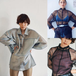 ロンハーマン(Ron Herman)のインポートsilk  see-through shirt/シアー  シャツ(シャツ/ブラウス(長袖/七分))
