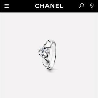 シャネル(CHANEL)のCHANEL シャネルファインジュエリー 本物ダイヤモンド0.31CT プラチナ(リング(指輪))