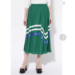 ROSE BUD - ROSE BUD バイカラー プリーツスカート