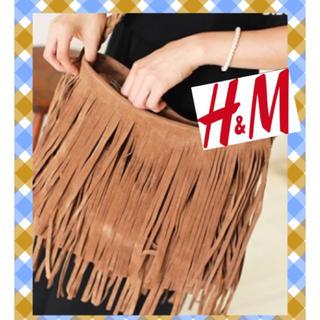 H&M - フリンジバッグ ショルダーバッグ 美品 H&M