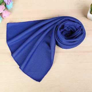 クールタオル 速乾タオル 超吸水 軽量 速乾 熱中症対策(ブルー)