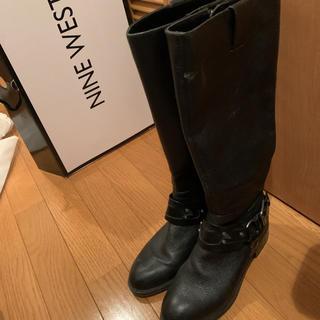 ナインウエスト(NINE WEST)のNINE WEST ベルトジョッキーブーツ 24.5(ブーツ)