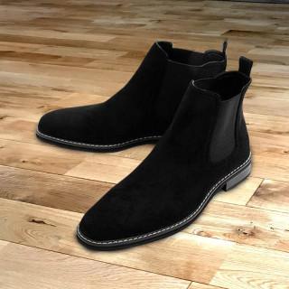 チェルシーブーツ サイドゴアブーツ メンズブーツ ブラック(ブーツ)