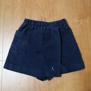 familiar - ファミリア d dash キュロット スカート 100 紺