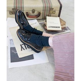 ダイアナ(DIANA)のenchanted エンチャンテッド ローファー 革靴 38 ブラック 厚底(ローファー/革靴)