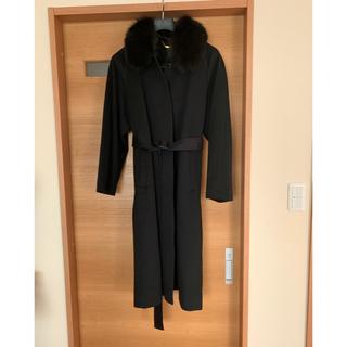 カシミヤ  ブルーフォックスファー コート 大きいサイズ  11号 ロング丈(毛皮/ファーコート)