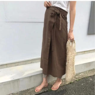 UNITED ARROWS - Chaicy style Linen wrap skirt リネン スカート