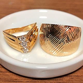 k18 ダイヤモンド 指輪 18金 リング 2点セット 早い者勝ちでお願いします