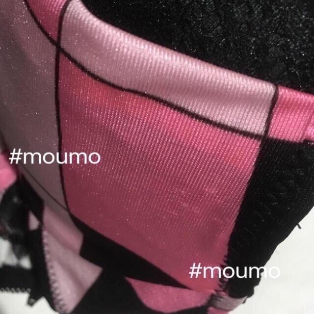 ブラショーツセット ピンク×ブラック レディースの下着/アンダーウェア(ブラ&ショーツセット)の商品写真