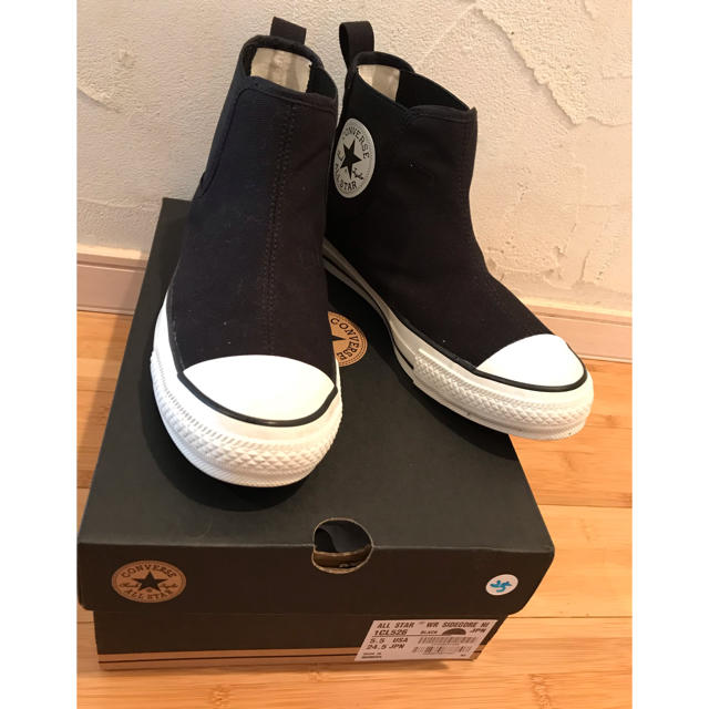 CONVERSE(コンバース)のコンバース サイドゴア ブラック 24.5cm レディースの靴/シューズ(スニーカー)の商品写真