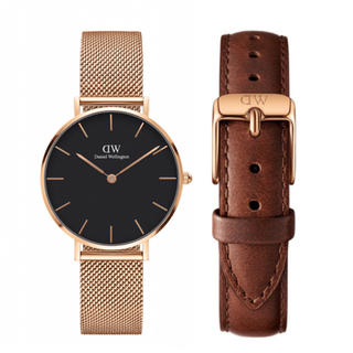 Daniel Wellington - 【32㎜】ダニエル ウェリントン腕時計 DW161+ベルトSET《3年保証付》