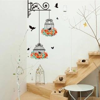 ★新品SALE✨インテリアウォールステッカー✨birdcage✨幸福招く鳥かご✨