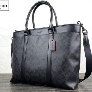 COACH - 正規品保証 コーチ シグネチャーレザー ビジネストートバッグ 黒 新品