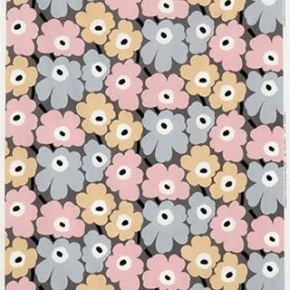 マリメッコ(marimekko)の【marimekko生地】ミニウニッコ ピンクグレー 日本限定色♥(生地/糸)