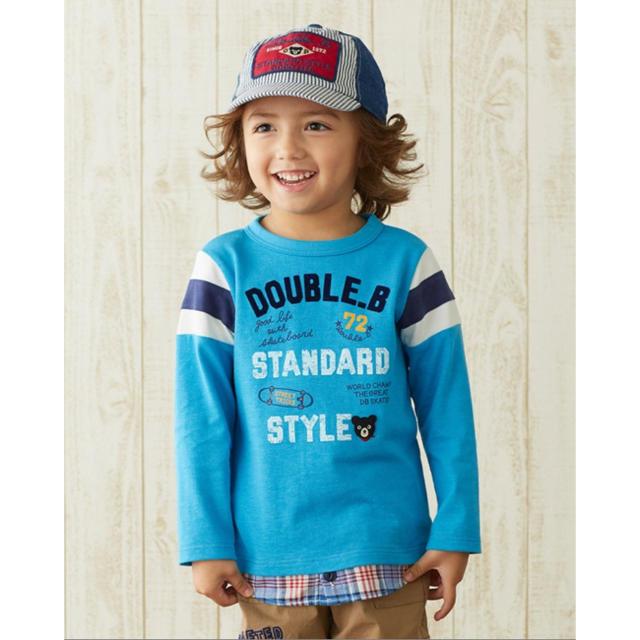 DOUBLE.B(ダブルビー)のダブルビー 長袖Tシャツ キッズ/ベビー/マタニティのキッズ服男の子用(90cm~)(Tシャツ/カットソー)の商品写真