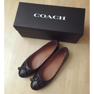 COACH - COACH コーチ フラットシューズ バレエシューズ 24.5 黒