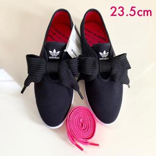 adidas - アディダス*adidas リレースロー リボン スニーカー スリッポン 黒ピンク