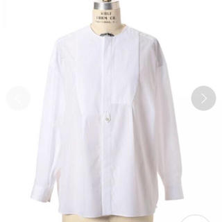 Drawer - Drawer ピンタックノーカラーシャツ