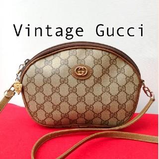 Gucci - 良品 オールドグッチ GG柄 ビンテージショルダーバッグ ポシェット 正規品