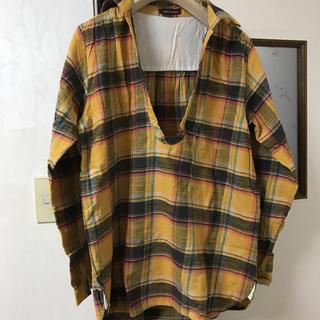 アーバンリサーチ イエローチェックシャツ