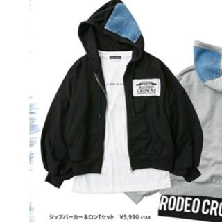RODEO CROWNS WIDE BOWL - ブラックです♪ RCWBららぽーと沼津店オープン記念ジップパーカー&ロンTセット