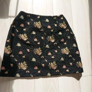 ダズリン(dazzlin)のdazzlin ローズモールジャガード台形スカート(ひざ丈スカート)