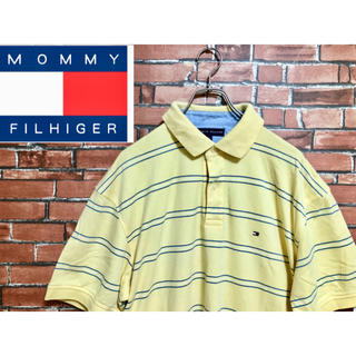 TOMMY HILFIGER - 90s TOMMY HILFIGER トミー フィルフィガー ポロシャツ L