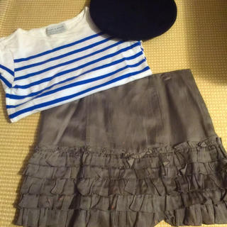 アーバンリサーチロッソ(URBAN RESEARCH ROSSO)のUR ブルーボーダーTシャツ(Tシャツ(長袖/七分))