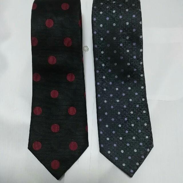 水玉ネクタイ2本セット メンズのファッション小物(ネクタイ)の商品写真