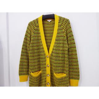 ケンゾー(KENZO)のパリ店購入 KENZO ロングカーディガン レディース XL 正規品 イエロー(カーディガン)