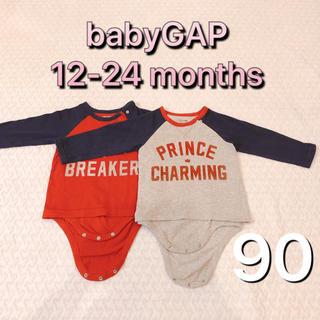 babyGAP - babyGAP◆長袖ロンパース 90