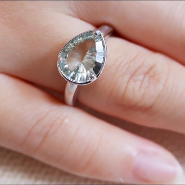 K18 ヴェレッタオッターヴァ グリーンアメシスト リング veretta8va レディースのアクセサリー(リング(指輪))の商品写真