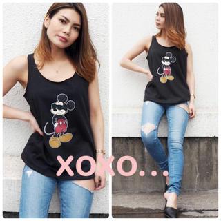 ジェイダ(GYDA)のGYDA スウェットタンクトップ ミッキーマウス(Tシャツ(半袖/袖なし))