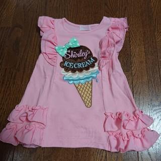 Shirley Temple - シャーリーテンプル アイス ワンピース 80
