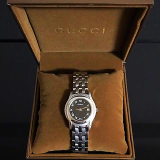 Gucci - GUCCI グッチ 5500L クォーツ レディース 黒文字盤 腕時計 稼働品