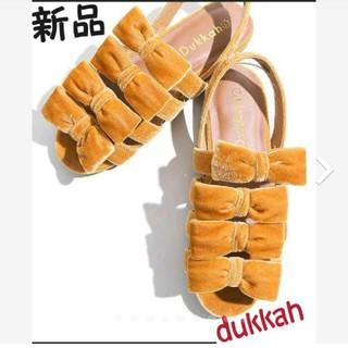 ウィゴー(WEGO)の新品  デュカ dukkah ベロア リボンサンダル(サンダル)