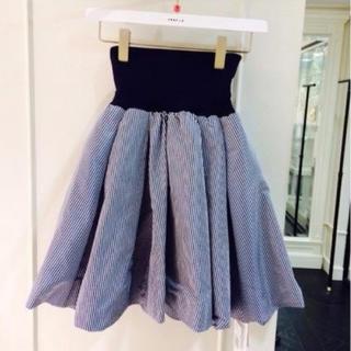 FRAY I.D - ◆新品◆FRAY I.Dメモリーリブスカート ギンガムチェックフレアースカート