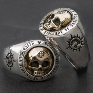 ステンレス銅 最高品質のゴールドデザインバイカーリングジュエリー(リング(指輪))