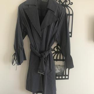 Mila Owen - ミラオーウェン  ベルト付きストライプシャツ ジャケット