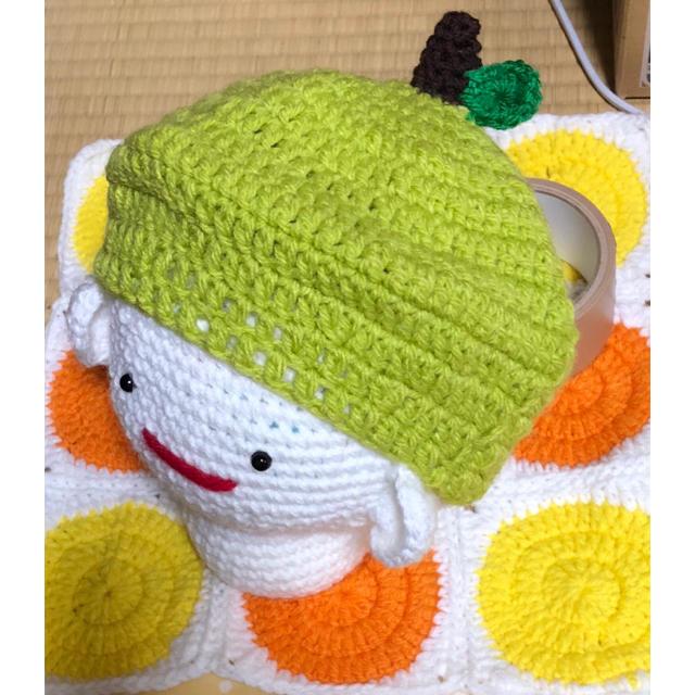 ベレー帽型♡フルーツ帽子 キッズ用 ハンドメイドのキッズ/ベビー(ファッション雑貨)の商品写真