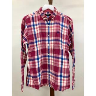 バーバリーブラックレーベル(BURBERRY BLACK LABEL)の美品 バーバリーブラックレーベル ホース刺繍 チェック ネルシャツ 2(シャツ)