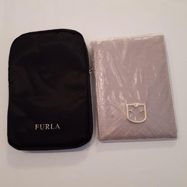 Furla(フルラ)のFURLAミラー&ミラーケース未使用 レディースのファッション小物(ミラー)の商品写真