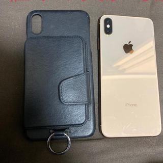 Apple - 特典 iPhone xs max 256 sim フリー 本体 ゴールド